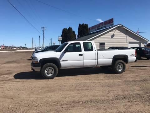 2002 Chevrolet Silverado 2500HD for sale at BLAESER AUTO LLC in Chippewa Falls WI