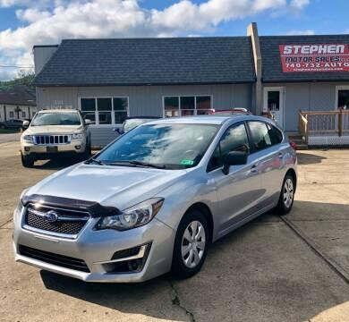 2015 Subaru Impreza for sale at Stephen Motor Sales LLC in Caldwell OH