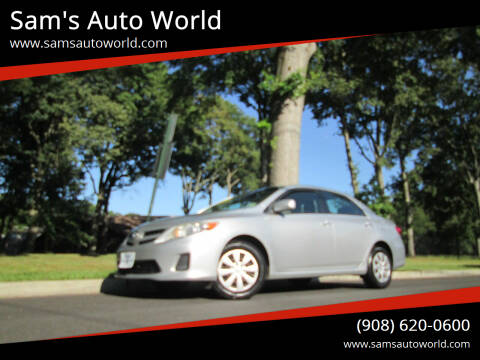 2011 Toyota Corolla for sale at Sam's Auto World in Roselle NJ