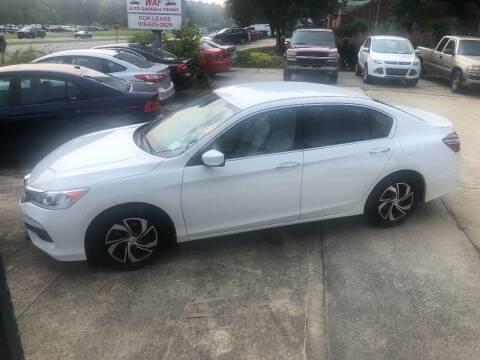 2017 Honda Accord for sale at Moore's Motors in Durham NC
