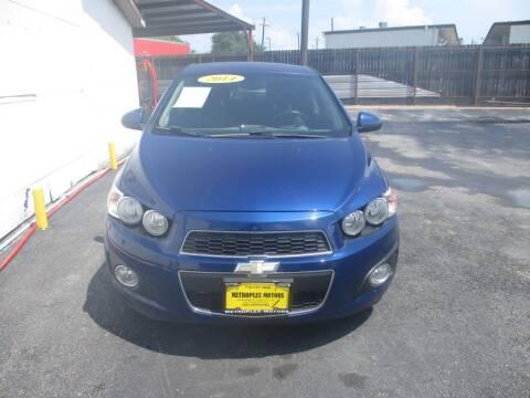 2014 Chevrolet Sonic for sale at Metroplex Motors Inc. in Houston TX