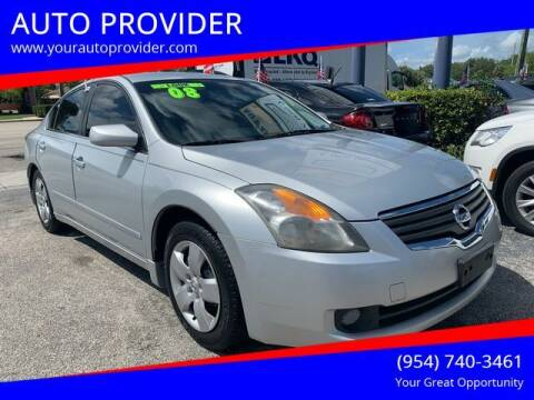2008 Nissan Altima for sale at AUTO PROVIDER in Fort Lauderdale FL