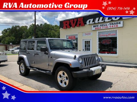 2014 Jeep Wrangler Unlimited for sale at RVA Automotive Group in North Chesterfield VA