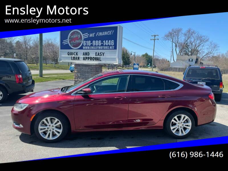 2015 Chrysler 200 for sale at Ensley Motors in Allendale MI