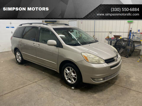 2005 Toyota Sienna for sale at SIMPSON MOTORS in Youngstown OH