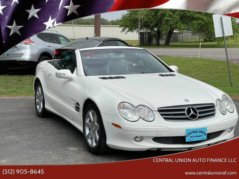 2003 Mercedes-Benz SL-Class for sale at Central Union Auto Finance LLC in Austin TX