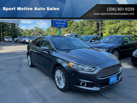 2016 Ford Fusion for sale at Sport Motive Auto Sales in Seattle WA