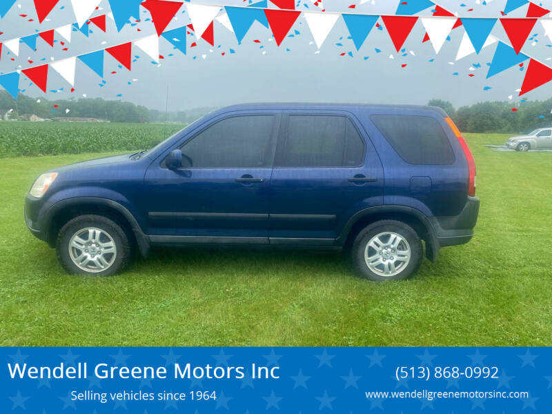 2003 Honda CR-V for sale at Wendell Greene Motors Inc in Hamilton OH