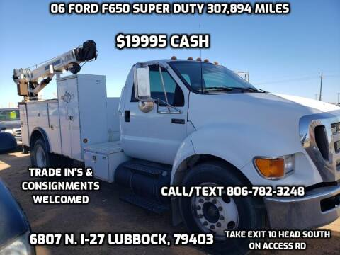 2006 Ford F-650 Super Duty for sale at West Texas Consignment in Lubbock TX