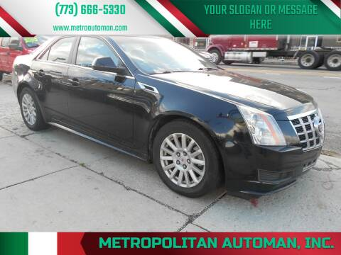 2012 Cadillac CTS for sale at Metropolitan Automan, Inc. in Chicago IL
