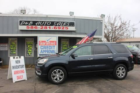 2015 GMC Acadia for sale at D & B Auto Sales LLC in Washington Township MI