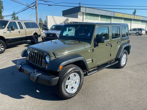 2015 Jeep Wrangler Unlimited for sale at Vista Auto Sales in Lakewood WA