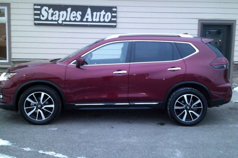 2020 Nissan Rogue for sale at STAPLES AUTO SALES in Staples MN
