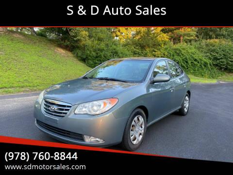2010 Hyundai Elantra for sale at S & D Auto Sales in Maynard MA