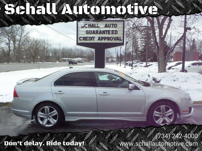 2010 Ford Fusion for sale at Schall Automotive in Monroe MI