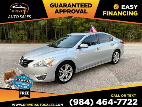 2013 Nissan Altima for sale at Drive 1 Auto Sales in Wake Forest NC
