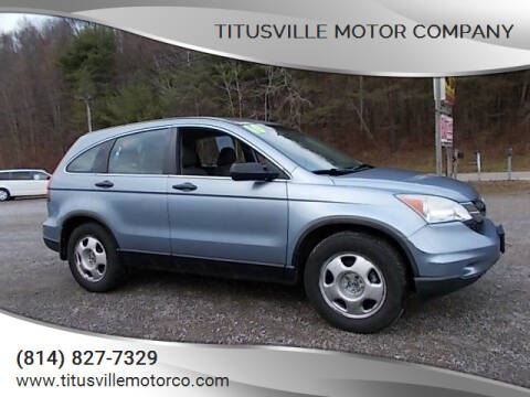 2010 Honda CR-V for sale at Titusville Motor Company in Titusville PA