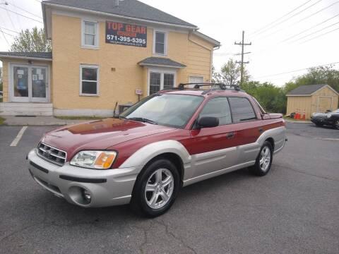 2003 Subaru Baja for sale at Top Gear Motors in Winchester VA