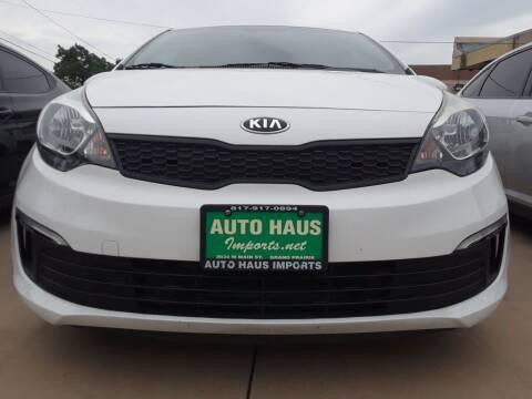2017 Kia Rio for sale at Auto Haus Imports in Grand Prairie TX