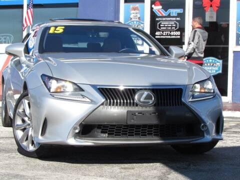 2015 Lexus RC 350 for sale at VIP AUTO ENTERPRISE INC. in Orlando FL