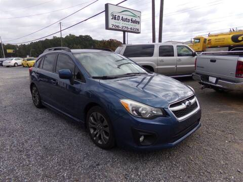 2013 Subaru Impreza for sale at J & D Auto Sales in Dalton GA