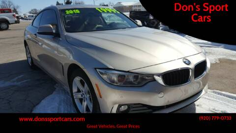 2015 BMW 4 Series for sale at Don's Sport Cars in Hortonville WI