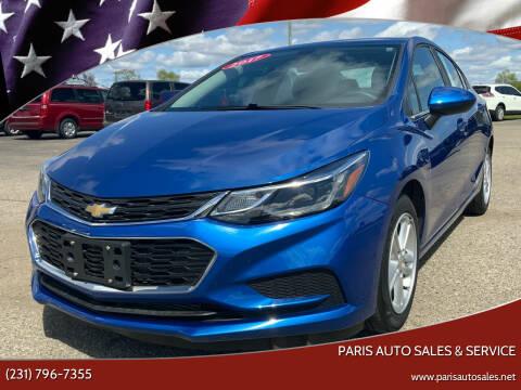 2017 Chevrolet Cruze for sale at Paris Auto Sales & Service in Big Rapids MI
