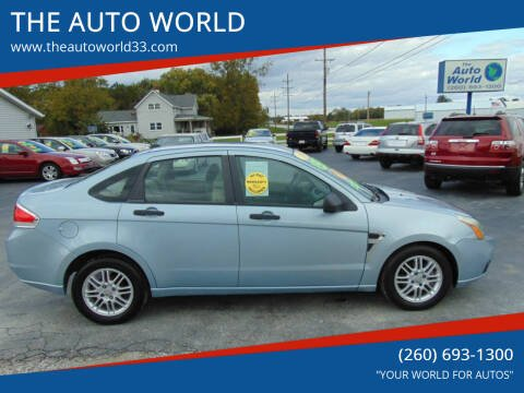 2008 Ford Focus for sale at THE AUTO WORLD in Churubusco IN