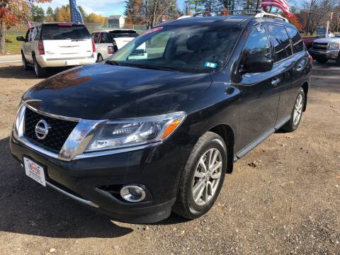 2016 Nissan Pathfinder for sale at Winner's Circle Auto Sales in Tilton NH