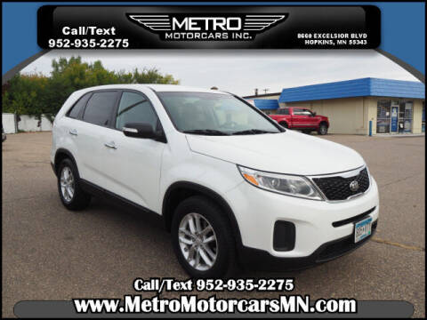 2014 Kia Sorento for sale at Metro Motorcars Inc in Hopkins MN