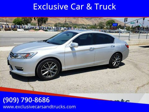 2013 Honda Accord for sale at Exclusive Car & Truck in Yucaipa CA