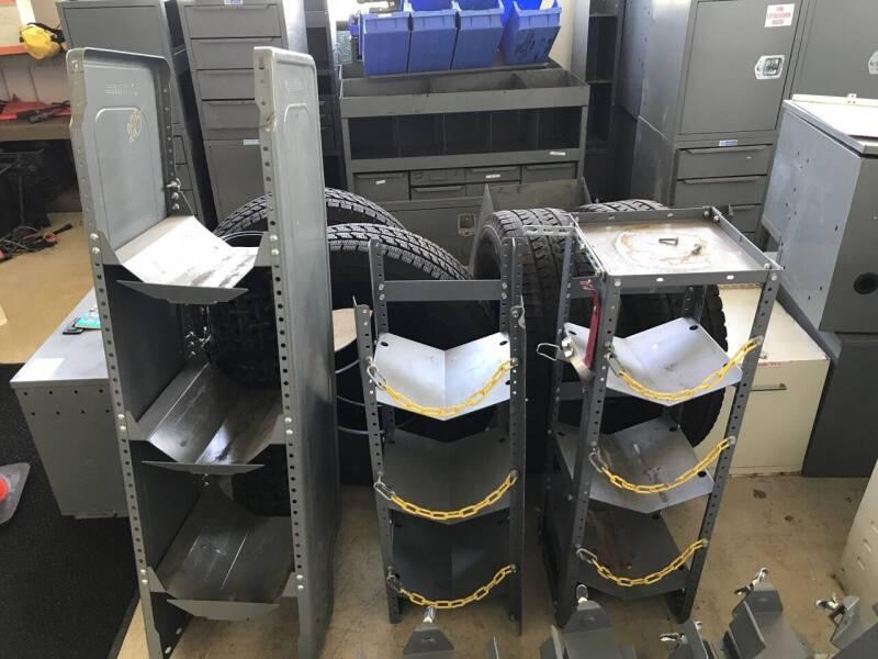 Adrian Steel Tank Rack for sale at CARGO VAN GO.COM in Shakopee MN