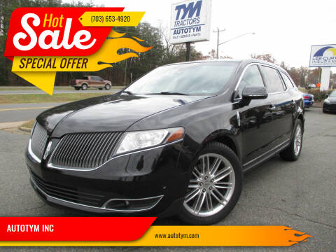 2014 Lincoln MKT for sale at AUTOTYM INC in Fredericksburg VA