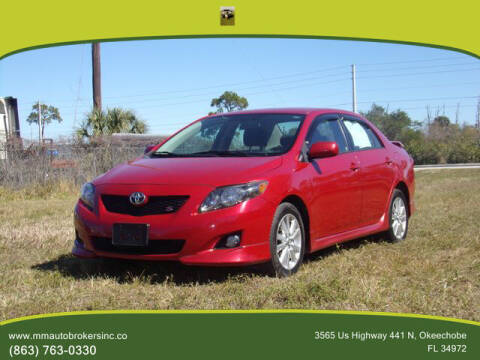 2010 Toyota Corolla for sale at M & M AUTO BROKERS INC in Okeechobee FL