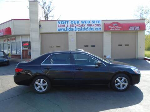 2005 Honda Accord for sale at Bickel Bros Auto Sales, Inc in Louisville KY