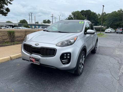 2017 Kia Sportage for sale at Mike's Auto Sales INC in Chesapeake VA