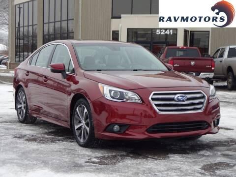 2017 Subaru Legacy for sale at RAVMOTORS 2 in Crystal MN