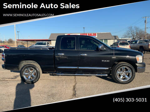 2008 Dodge Ram Pickup 1500 for sale at Seminole Auto Sales in Seminole OK