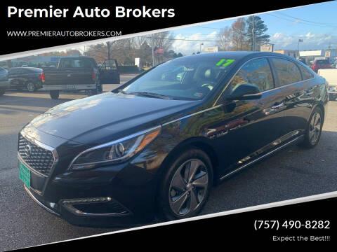 2017 Hyundai Sonata Hybrid for sale at Premier Auto Brokers in Virginia Beach VA