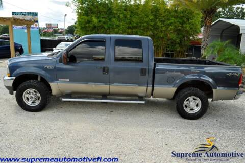 2004 Ford F-250 Super Duty for sale at Supreme Automotive in Land O Lakes FL