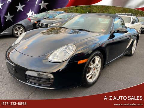 2008 Porsche Boxster for sale at A-Z Auto Sales in Newport News VA
