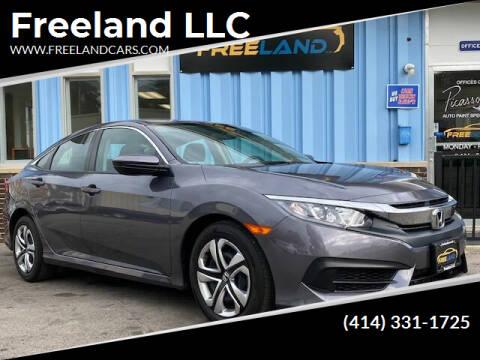 2018 Honda Civic for sale at Freeland LLC in Waukesha WI