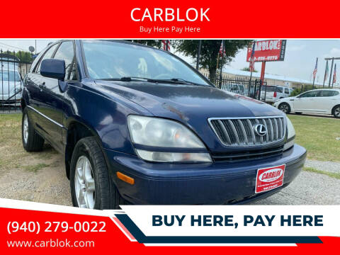 2002 Lexus RX 300 for sale at CARBLOK in Lewisville TX