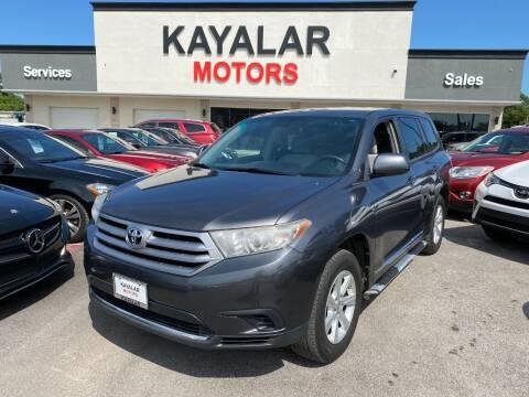 2011 Toyota Highlander for sale at KAYALAR MOTORS in Houston TX