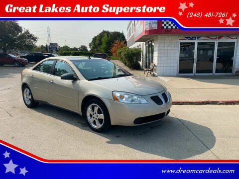 2009 Pontiac G6 for sale at Great Lakes Auto Superstore in Pontiac MI