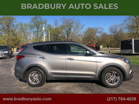 2018 Hyundai Santa Fe Sport for sale at BRADBURY AUTO SALES in Gibson City IL