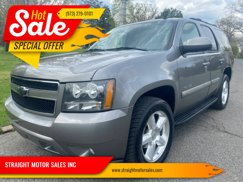 2007 Chevrolet Tahoe for sale at STRAIGHT MOTOR SALES INC in Paterson NJ