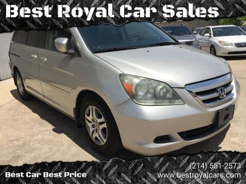 2007 Honda Odyssey for sale at Best Royal Car Sales in Dallas TX