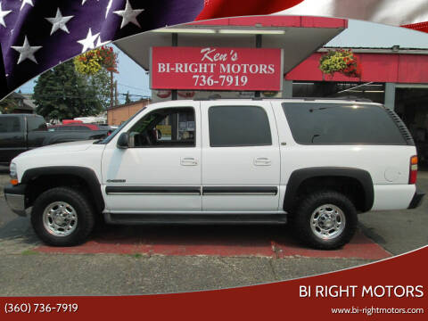 2001 Chevrolet Suburban for sale at Bi Right Motors in Centralia WA