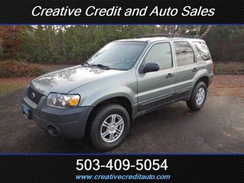 2005 Ford Escape for sale at Creative Credit & Auto Sales in Salem OR